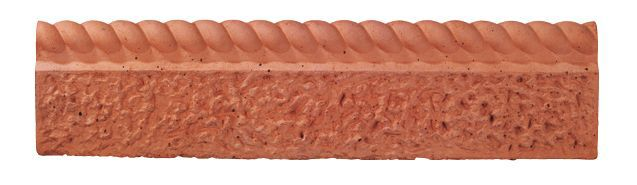 Rustic Rope Top Paving Edging Terracotta, (l)600mm (h)150mm (t)50mm Pack Of 38