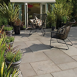Steel Grey River Washed Limestone Mixed Size Paving