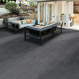 Graphite Mode Textured Paving Slab (L)600 (W)298mm Pack