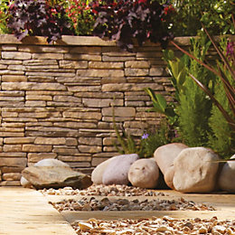 Madoc Weathered Cotswold Walling Pack, (L)580mm (W)100mm (T)140mm