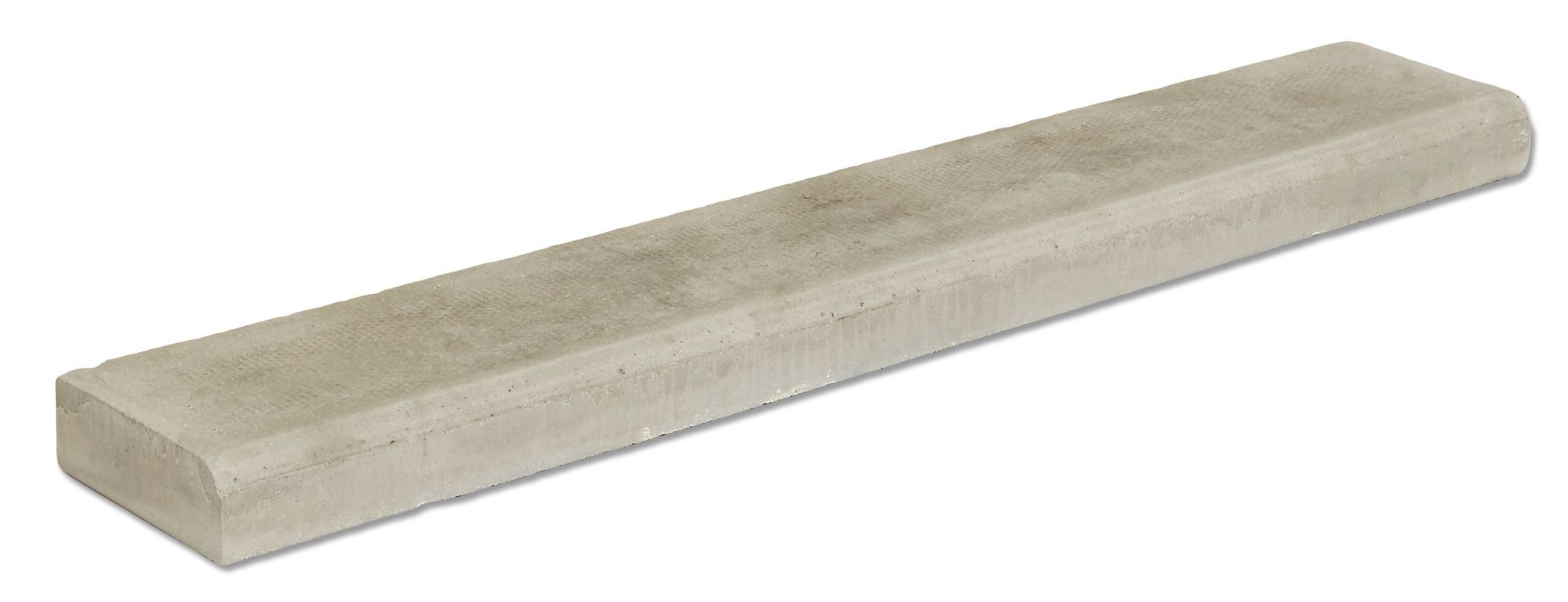 Charcon Bullnose Paving Edging Block Grey, (l)914mm (h)150mm (t)50mm
