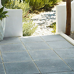 Dark Grey Textured Single Paving Slab (L)450mm (W)450mm