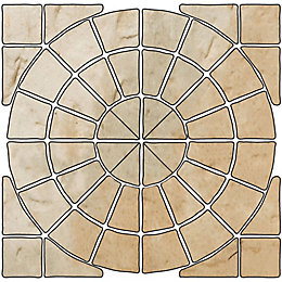 Grey Green Old Town Circle Paving Pack (D)2.8M