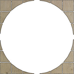 Grey Green Old Town Paving Circle Squaring Off