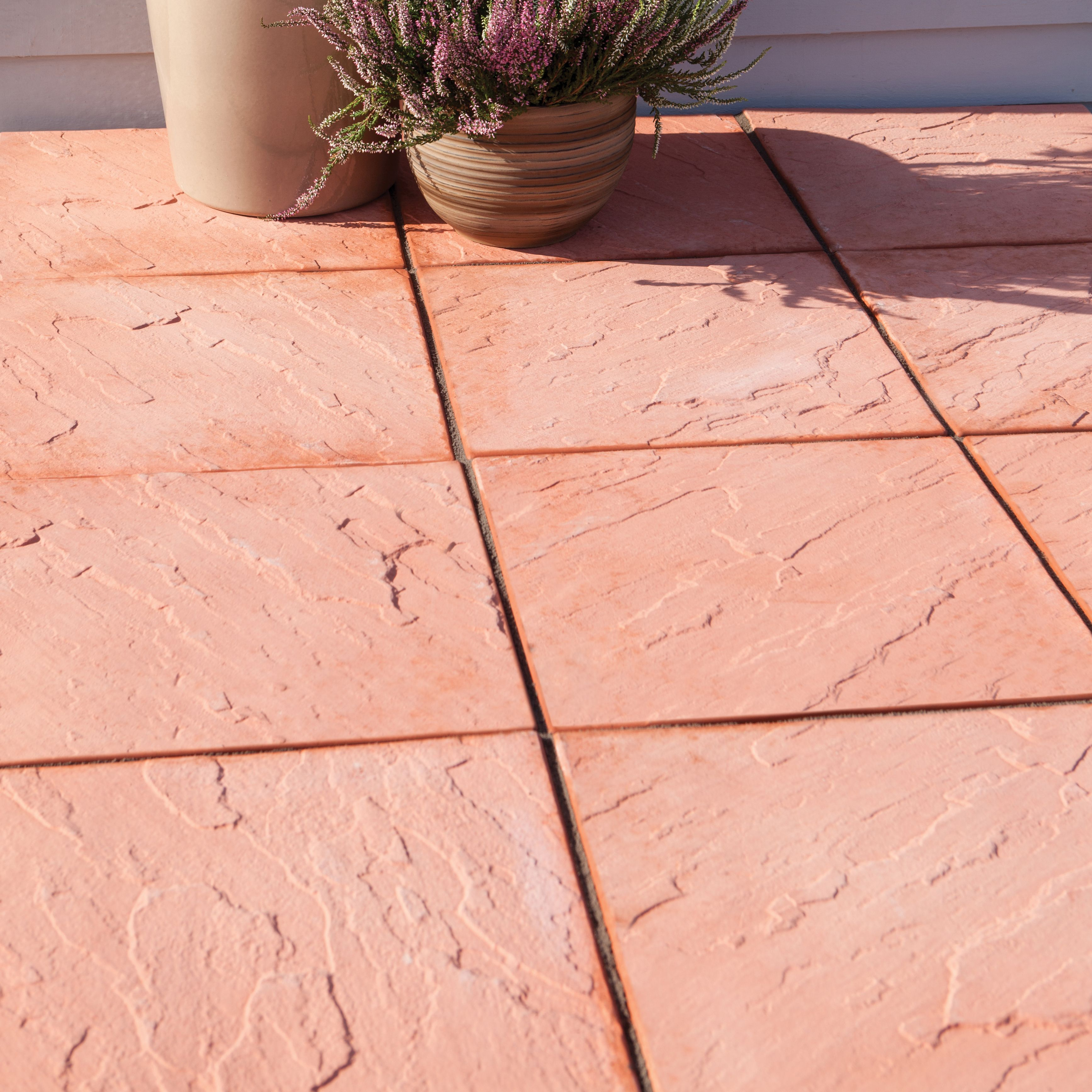 Terracotta Derbyshire Single Paving Slab (L)450mm (W)450mm