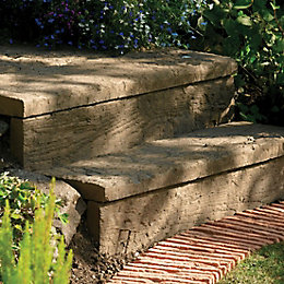 Traditional Stonewood Paving Edging Antique Brown, (L)600mm