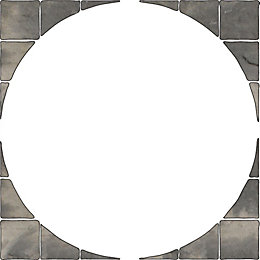 Autumn Silver Old Riven Paving Circle Squaring Off