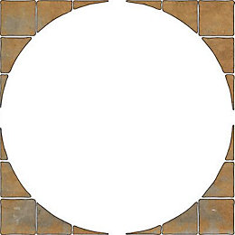 Autumn Bronze Old Riven Paving Circle Squaring Off