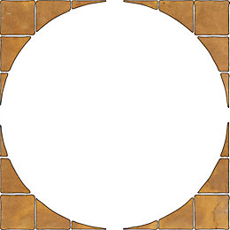 Autumn Cotswold Old Riven Paving Circle Squaring Off