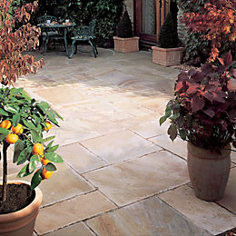 Sunset Buff Natural Sandstone Mixed Size Paving Pack,