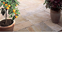 Fossil Buff Natural Sandstone Mixed Size Paving Pack