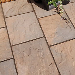 York Brown Ashbourne Mixed Size Paving Pack