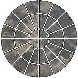 Abbey Storm Ancestry Circle Paving Pack, 4.52 m²