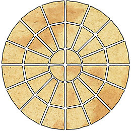 Abbey Original Ancestry Circle Paving Pack, 4.52 m²