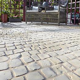 Buff Carpet Stones Cobble Mat Straight (L)600mm (W)400mm