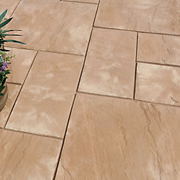 Autumn Cotswold Old Riven Mixed Size Paving Pack,