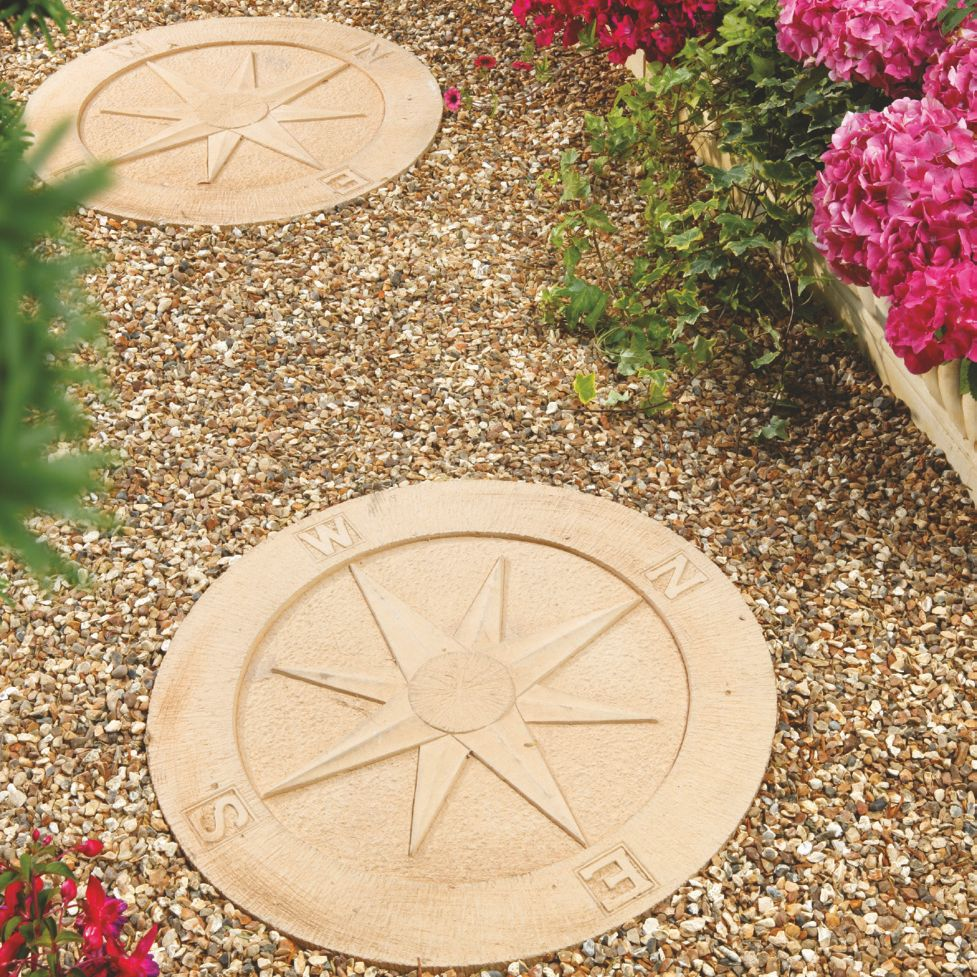 Marvelous Compass Cotswold Stepping Stone