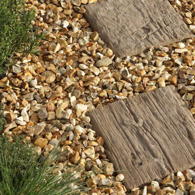 Pine Effect Timber Plank Single Paving Slab (L)250mm