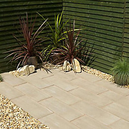 Timber Plank Paving Edging Pine Effect, (L)600mm (H)250mm