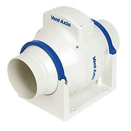 Vent-Axia Acm100T In-Line Mixed Flow Fan with Timer