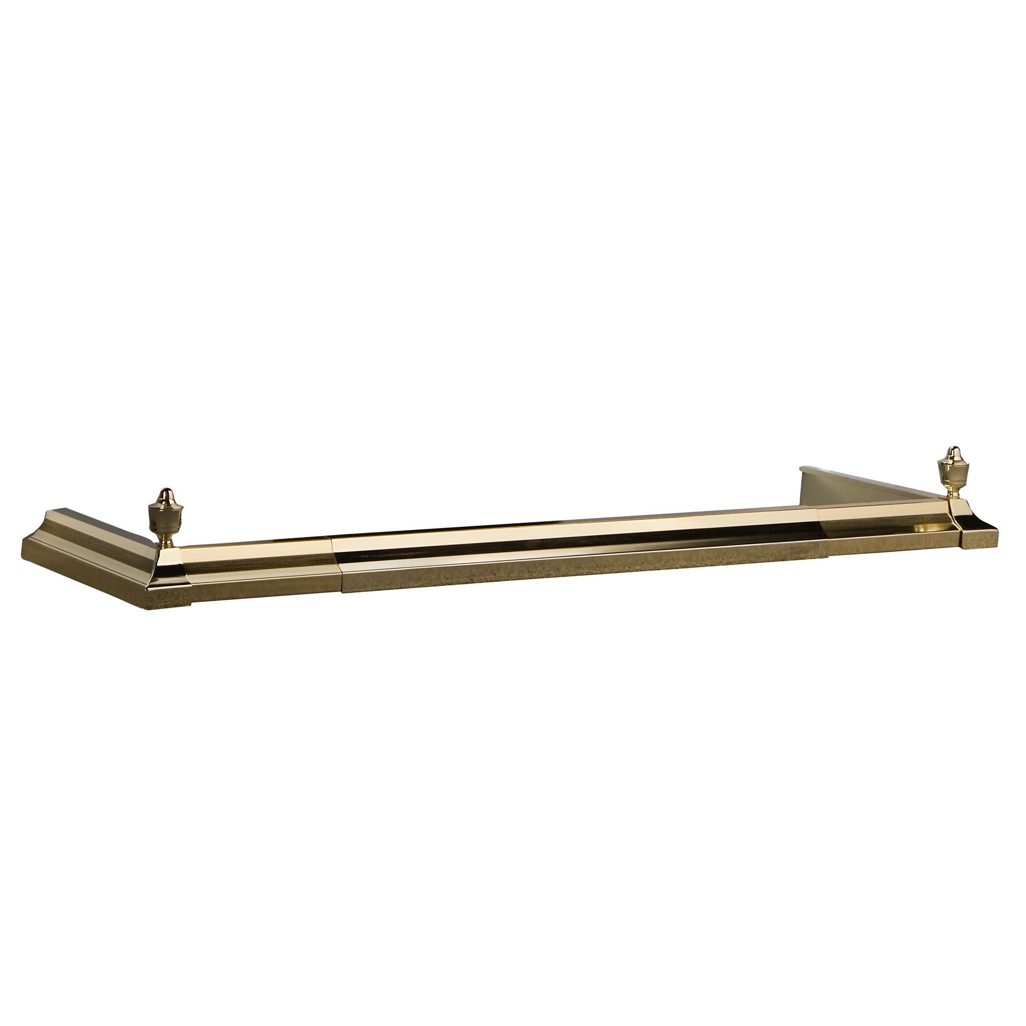 slemcka traditional brass hearth fender h 130mm w 1580mm d
