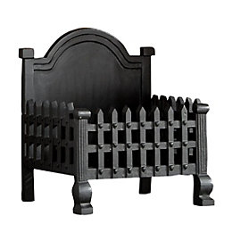 Slemcka Traditional Cast Iron Fire Basket (H)300mm (D)430mm