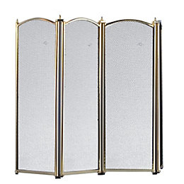 Slemcka Traditional 4 Fold Fire Screen (H)640mm (W)850mm