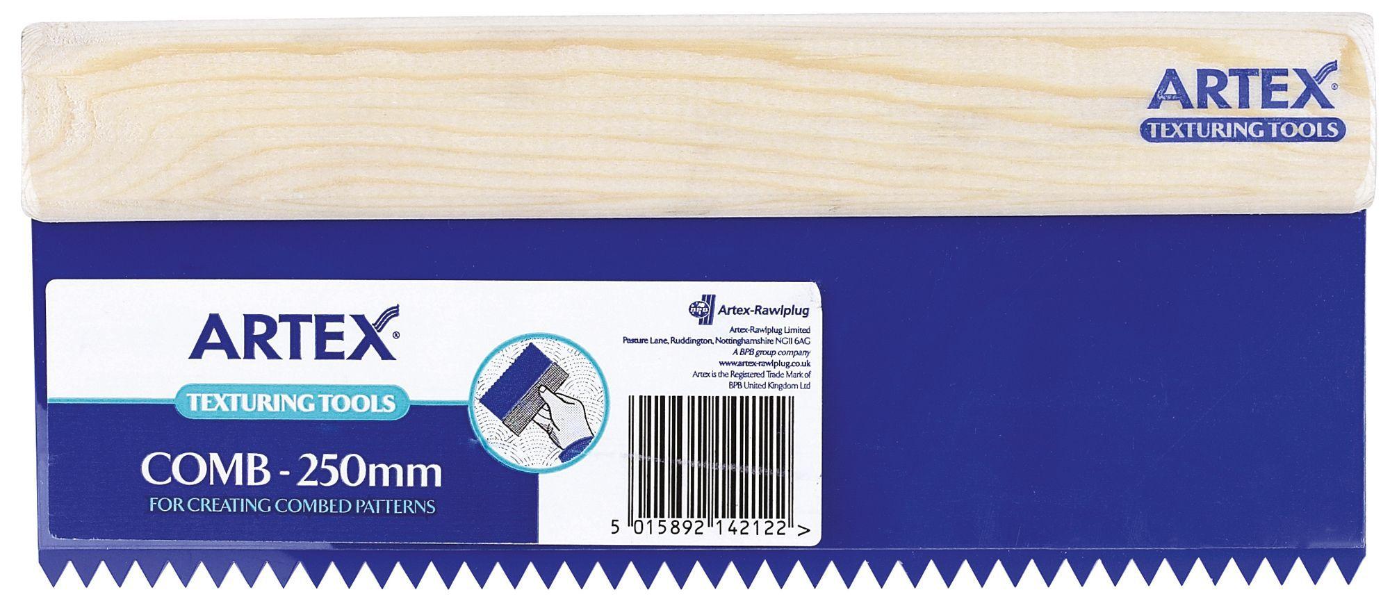 Artex Plastic Amp Rubber Texturing Comb W 150mm L 250mm