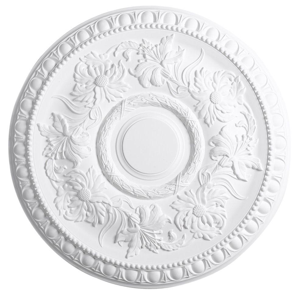 Artex Richmond White Ceiling Rose Dia 530mm Departments