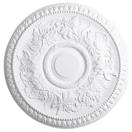 Artex Richmond White Ceiling Rose (Dia)530mm