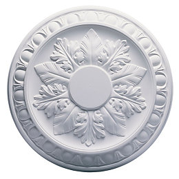 Artex Richmond White Ceiling Rose (Dia)360mm