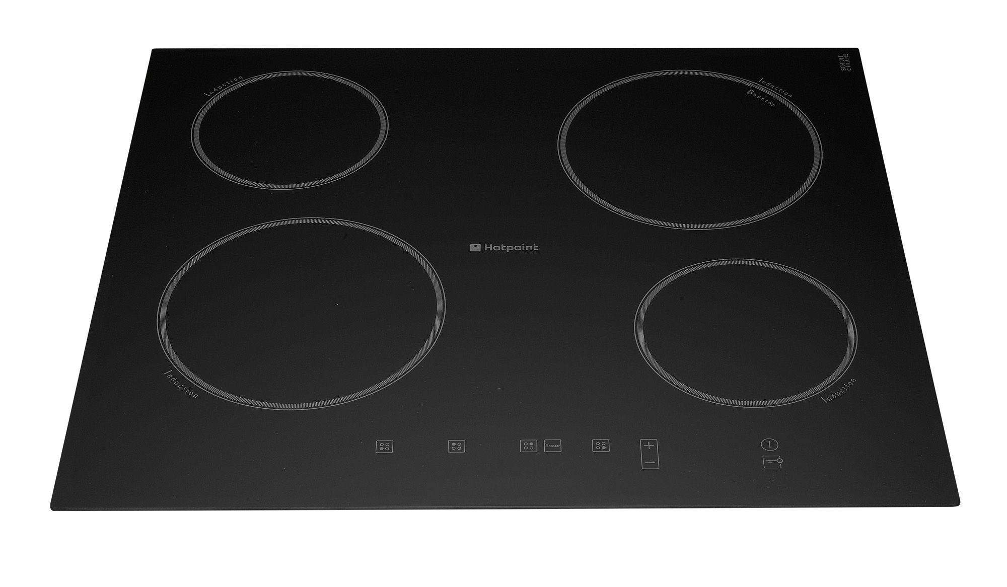 hotpoint 4 burner black ceramic electric induction hob. Black Bedroom Furniture Sets. Home Design Ideas