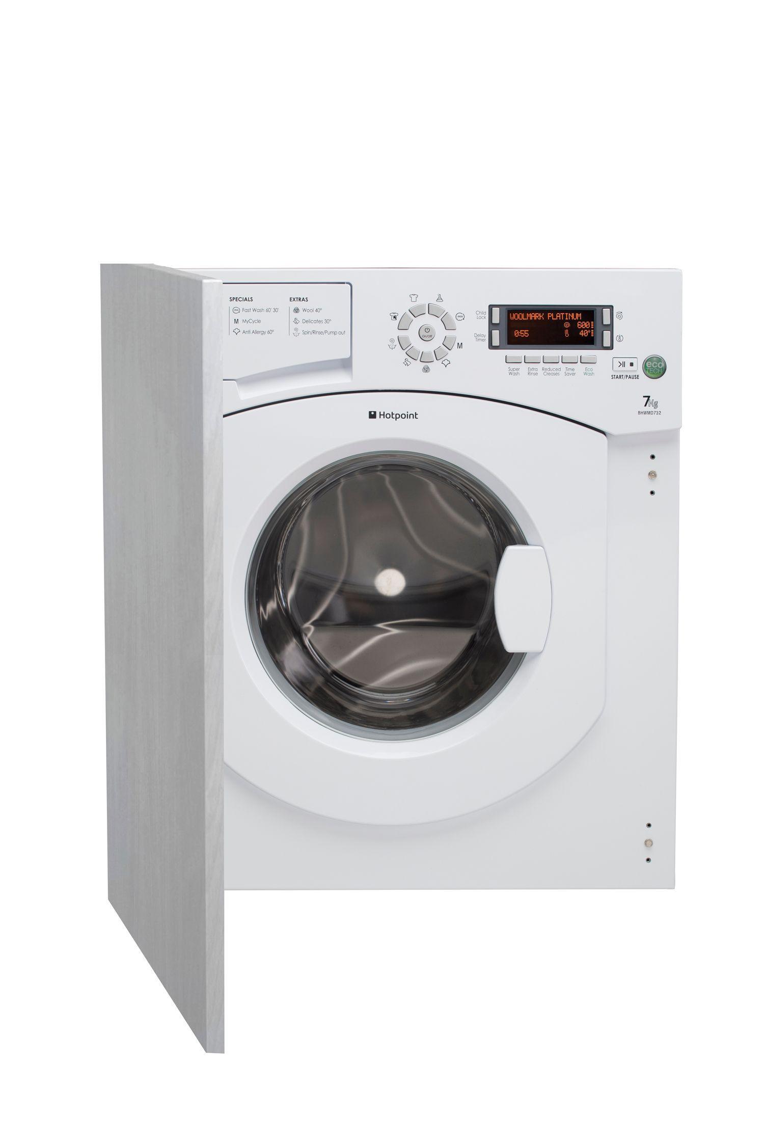 hotpoint bhwmd732 white built in washing machine. Black Bedroom Furniture Sets. Home Design Ideas