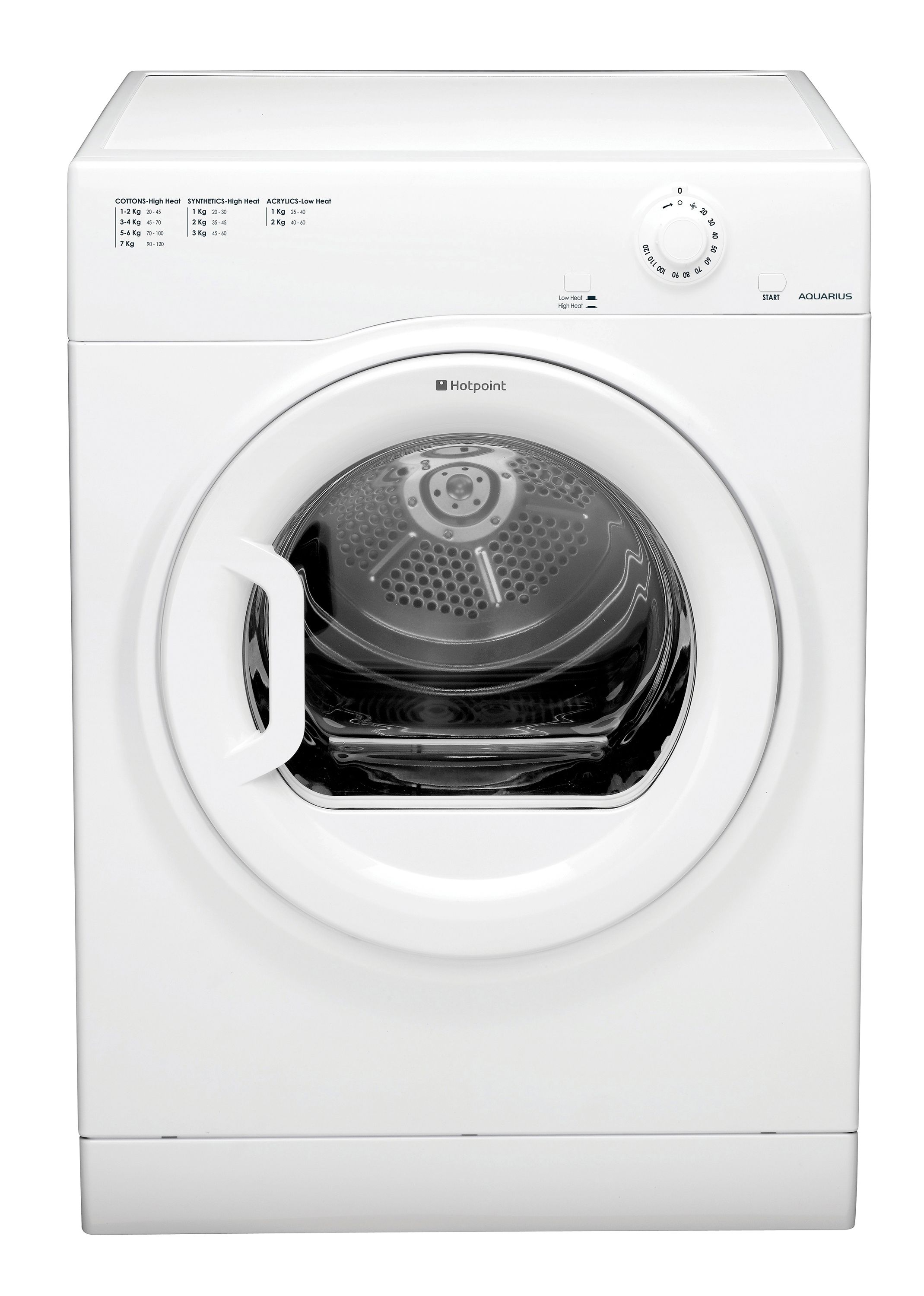Animated Tumble Dryer ~ Hotpoint tvfm bgp white freestanding tumble dryer