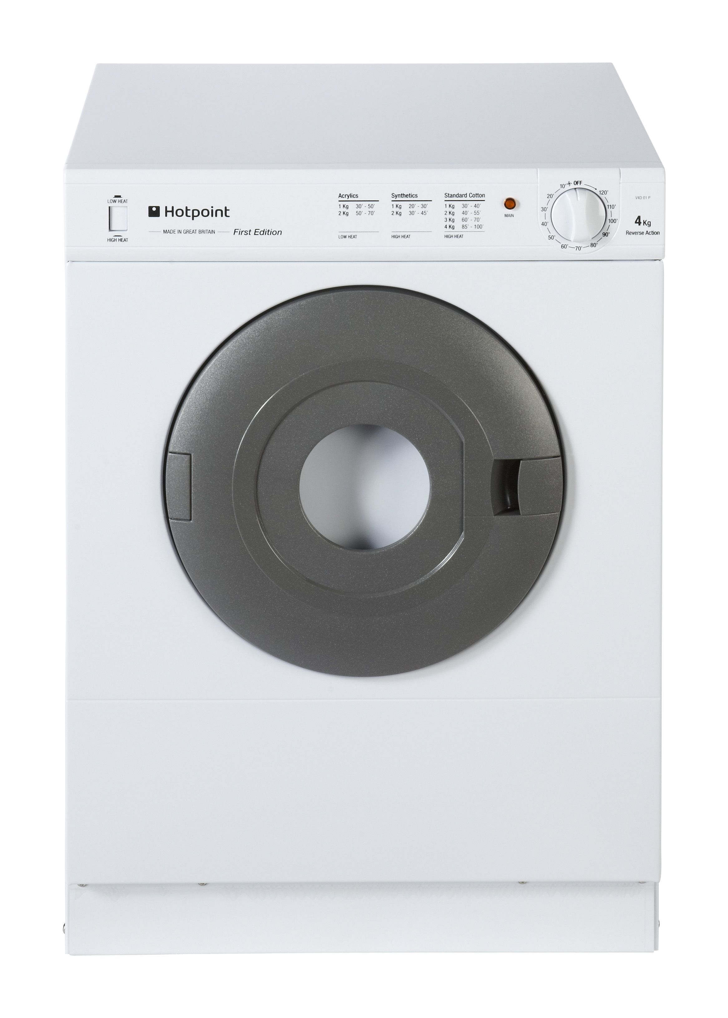 Animated Tumble Dryer ~ Hotpoint v d p uk white freestanding vented tumble dryer