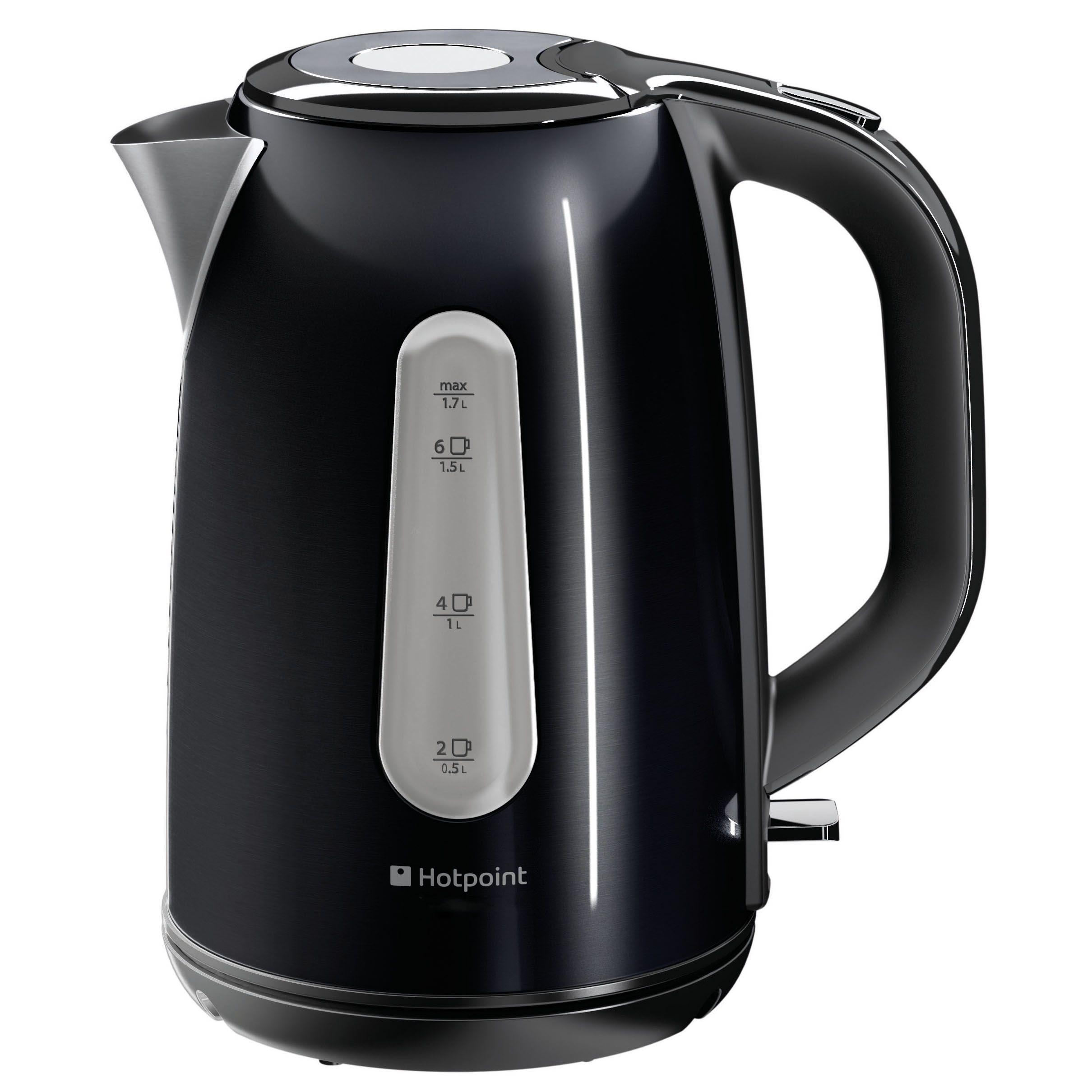 hotpoint wk30mdbk0 electric kettle black departments. Black Bedroom Furniture Sets. Home Design Ideas