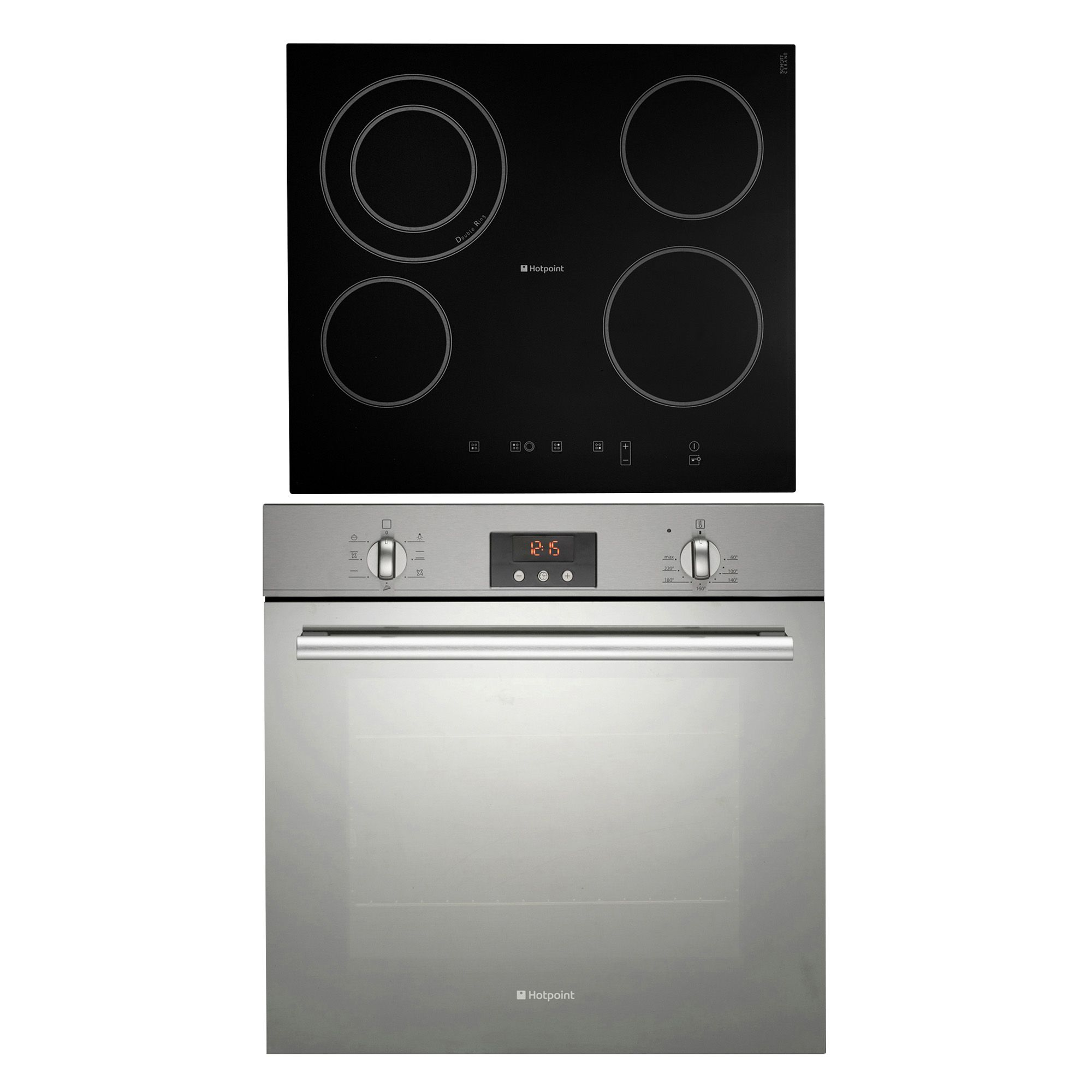Kitchen Outlet Hob ~ Hotpoint sbs cra black single fan oven ceramic