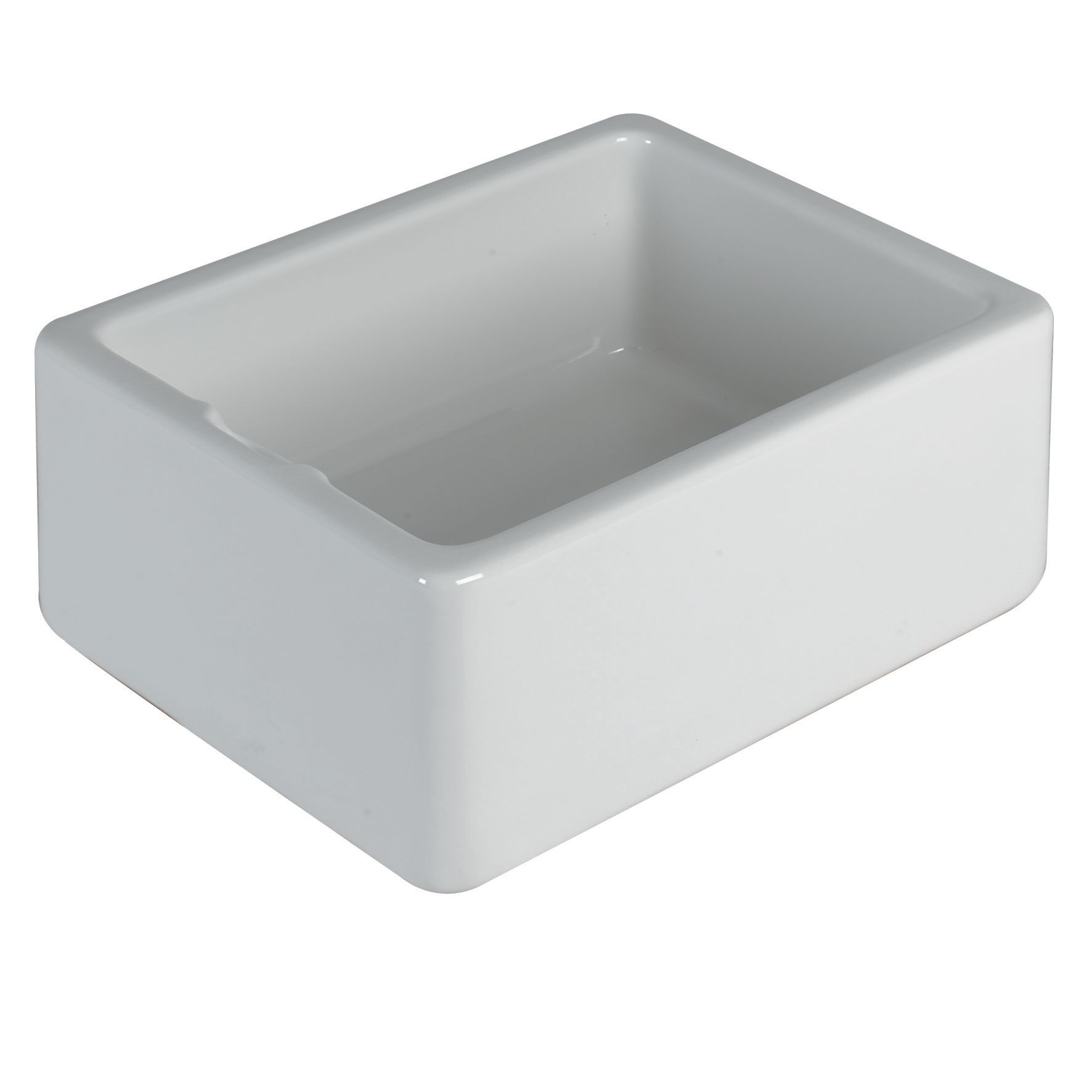 Belfast 1 Bowl White Gloss Ceramic Sink | Departments ...