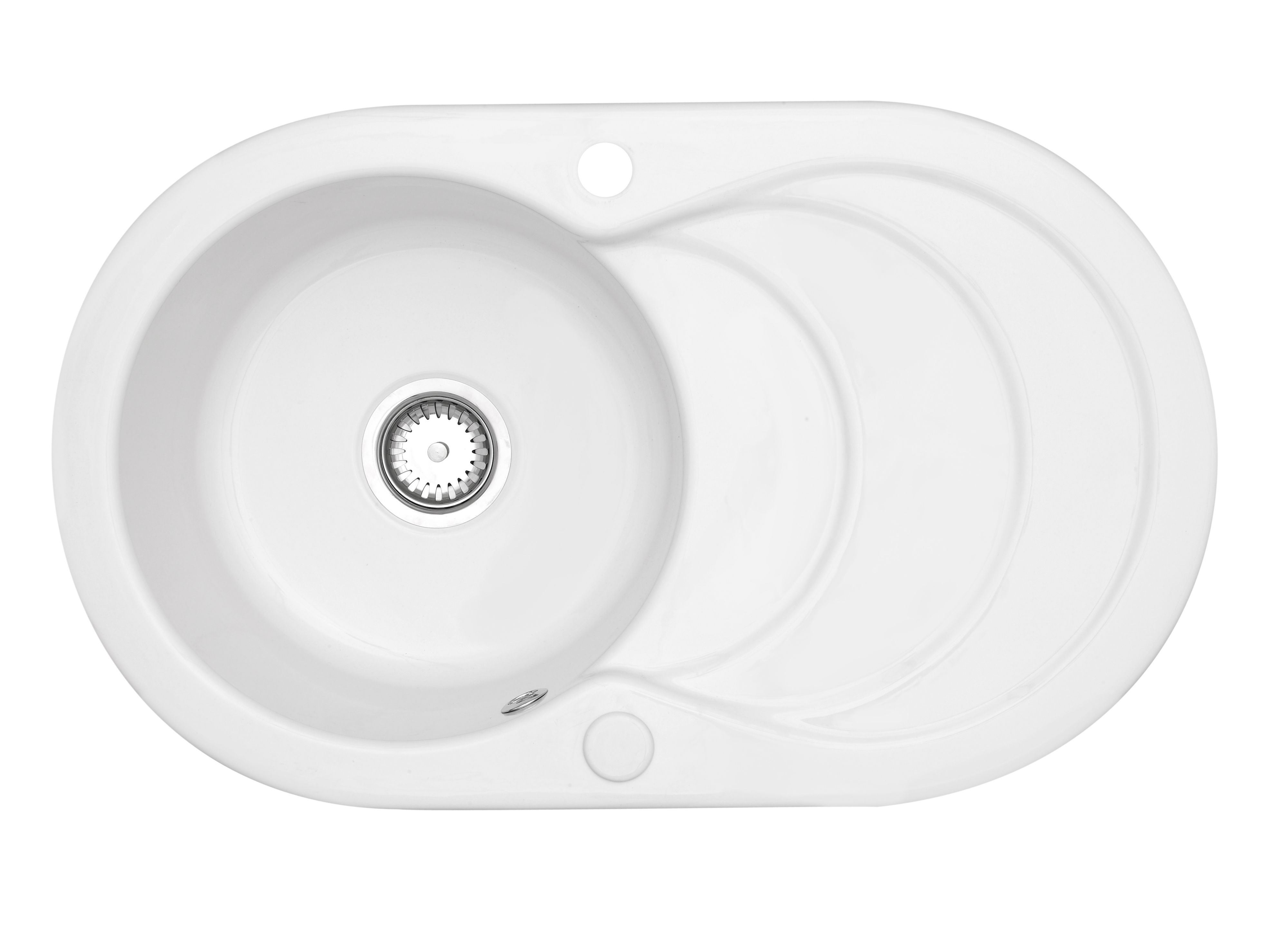 Bathroom Sinks B&Q Ireland astracast cascade 1 bowl white gloss ceramic sink & drainer