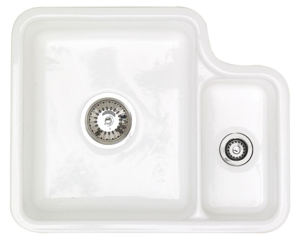 Astracast Lincoln 1.5 Bowl White Gloss Ceramic Sink & Drainer