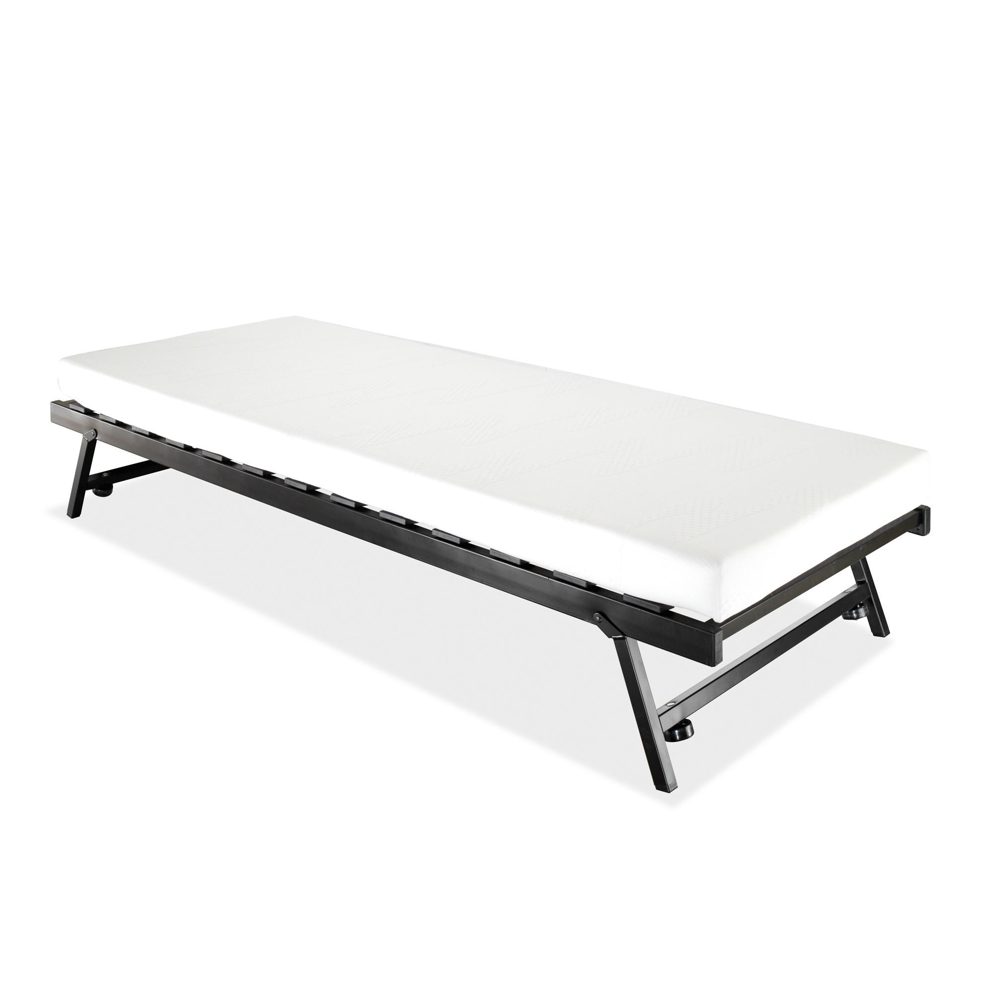 Jay Be Trundle Single Guest Bed With Memory Foam Mattress Departments Diy At B Q