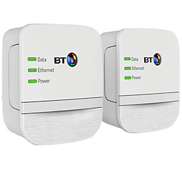 BT Powerline Adapter BT-AV600, Pack of 2