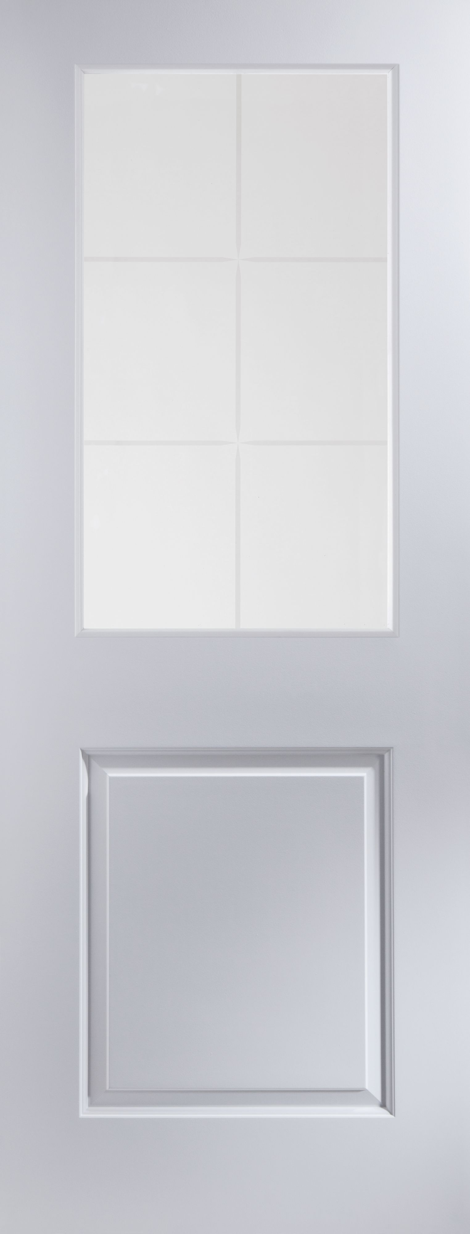 2 Panel 6 Lite Pre Painted White Glazed Internal Standard Door H 1981mm W 838mm Departments