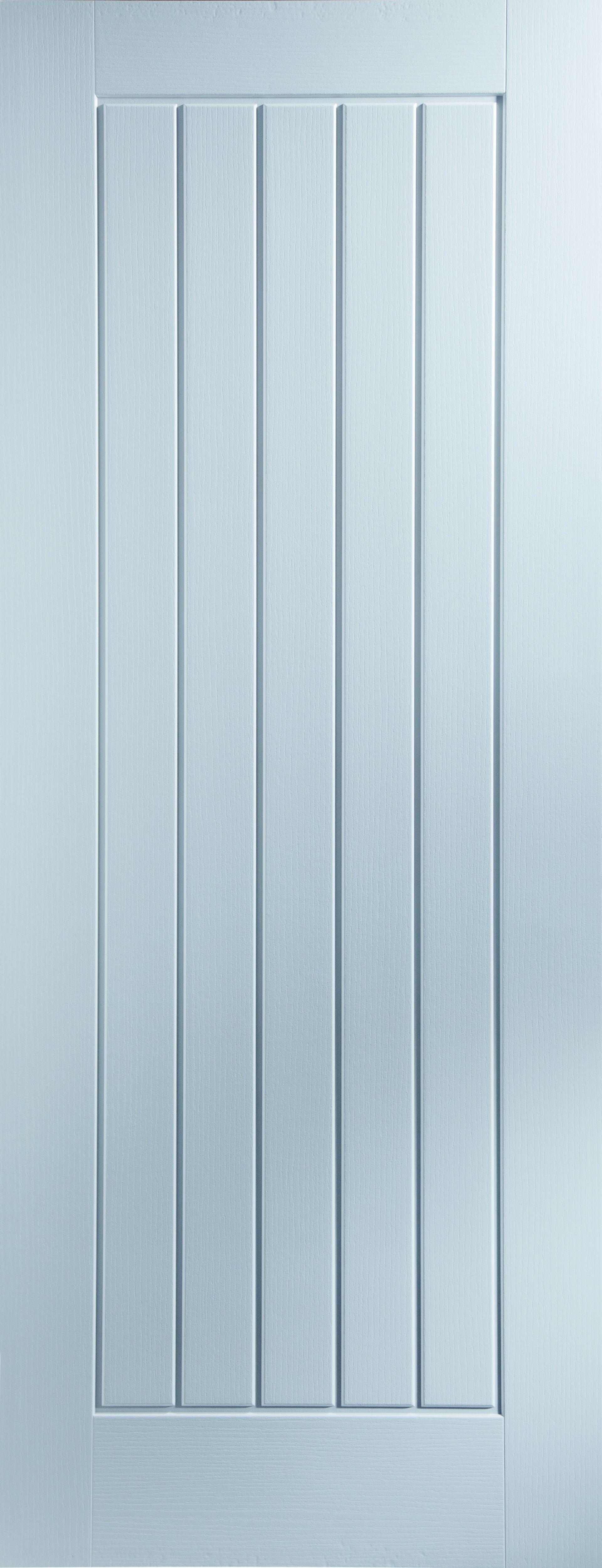 Cottage Panel White Smooth Unglazed Door Kit, (h)2040mm (w)826mm
