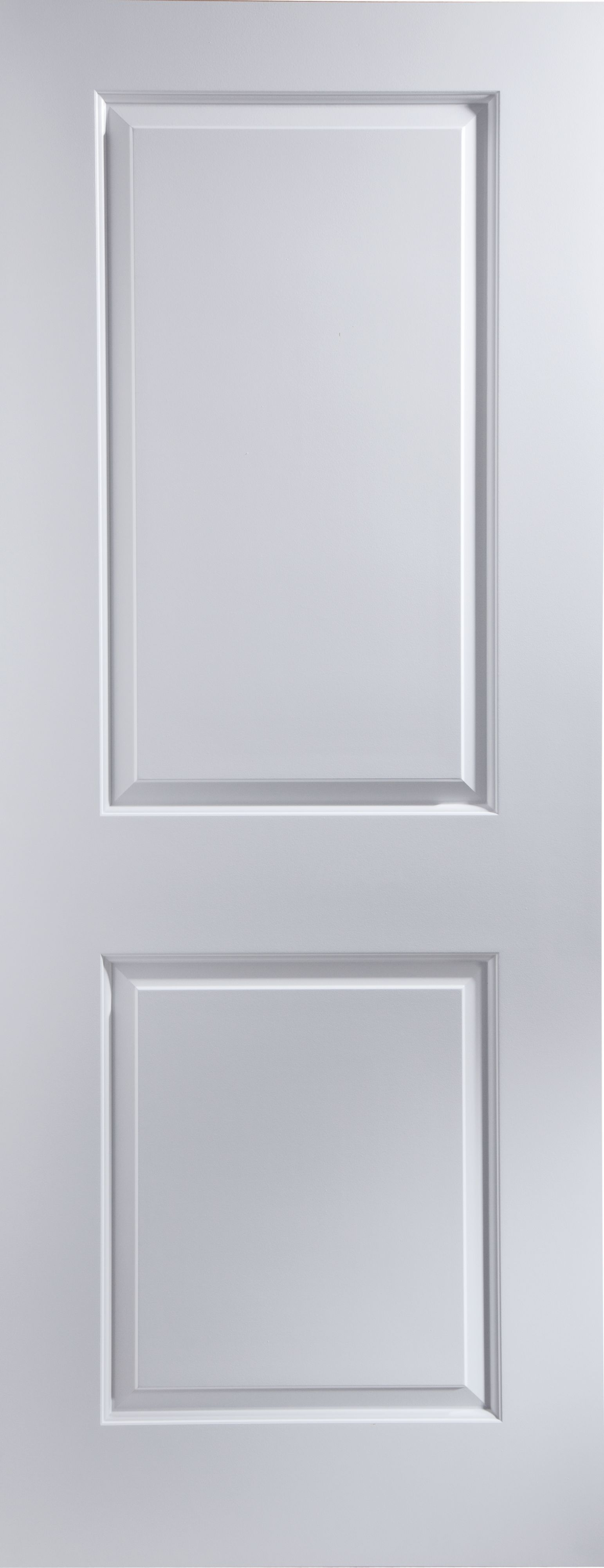 2 Panel Pre-painted White Smooth Unglazed Door Kit, (h)2040mm (w)826mm