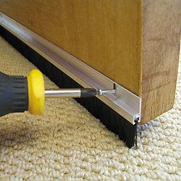 Stormguard Aluminium/ Brush Door Seal, (L)2134mm