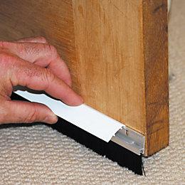 Stormguard PVC/ Brush Self Adhesive Door Seal, (L)838mm