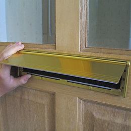 Stormguard Aluminium/ Brush Letterbox Draught Excluder, (L)292mm