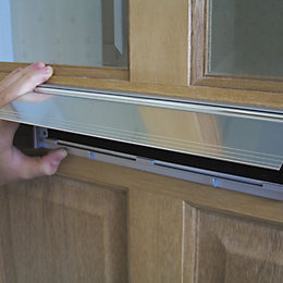 Stormguard Aluminium & Brush Letterbox Draught Excluder,