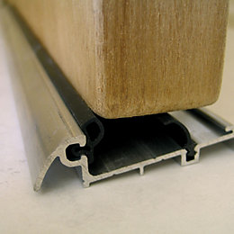 Stormguard Aluminium & Rubber Slim Line Threshold, (L)838mm